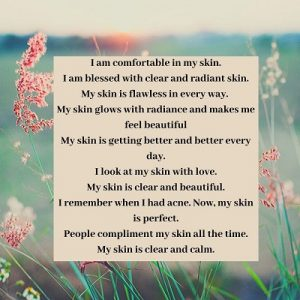 10 affirmations for clear skin